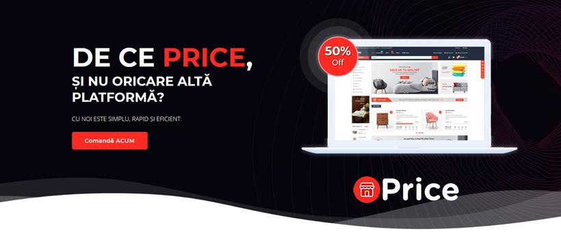 Priceshop – platformă de creare a Internet Magazinelor